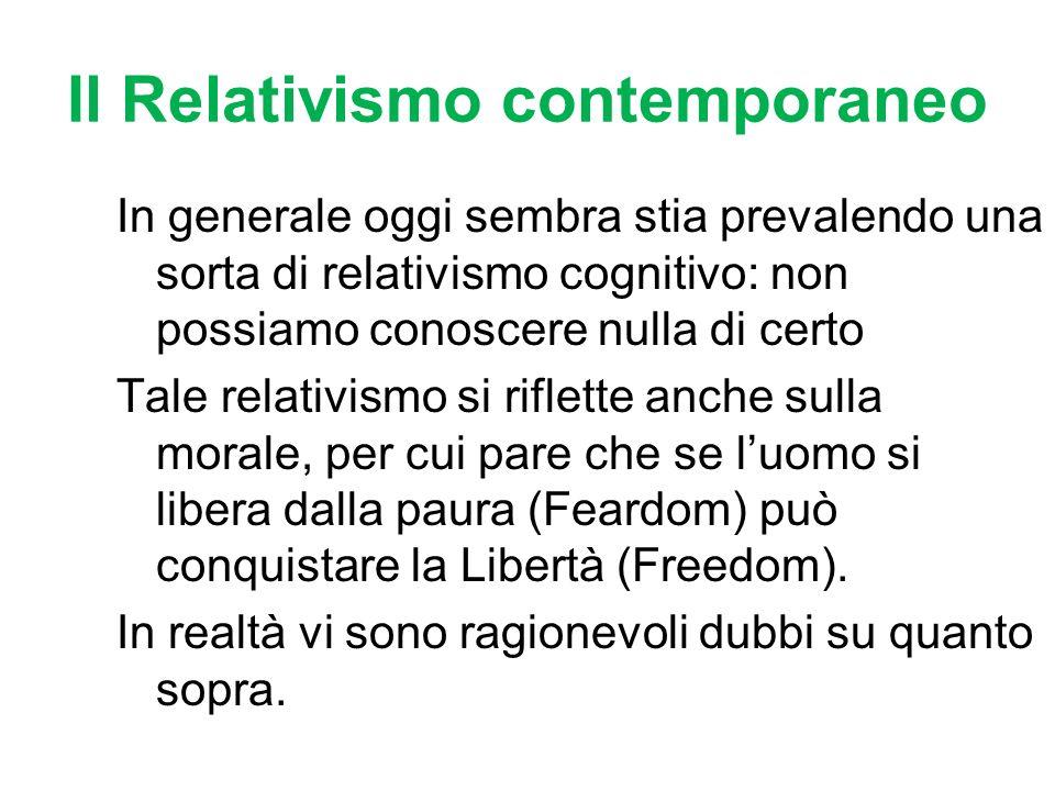 Il Relativismo contemporaneo