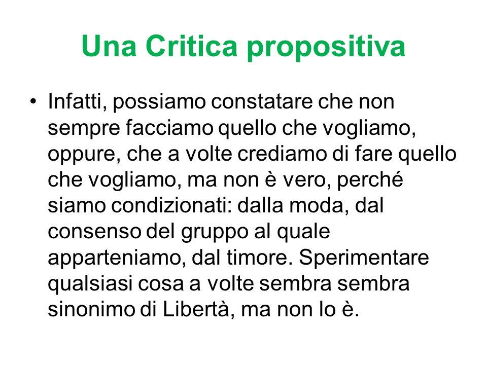 Una Critica propositiva