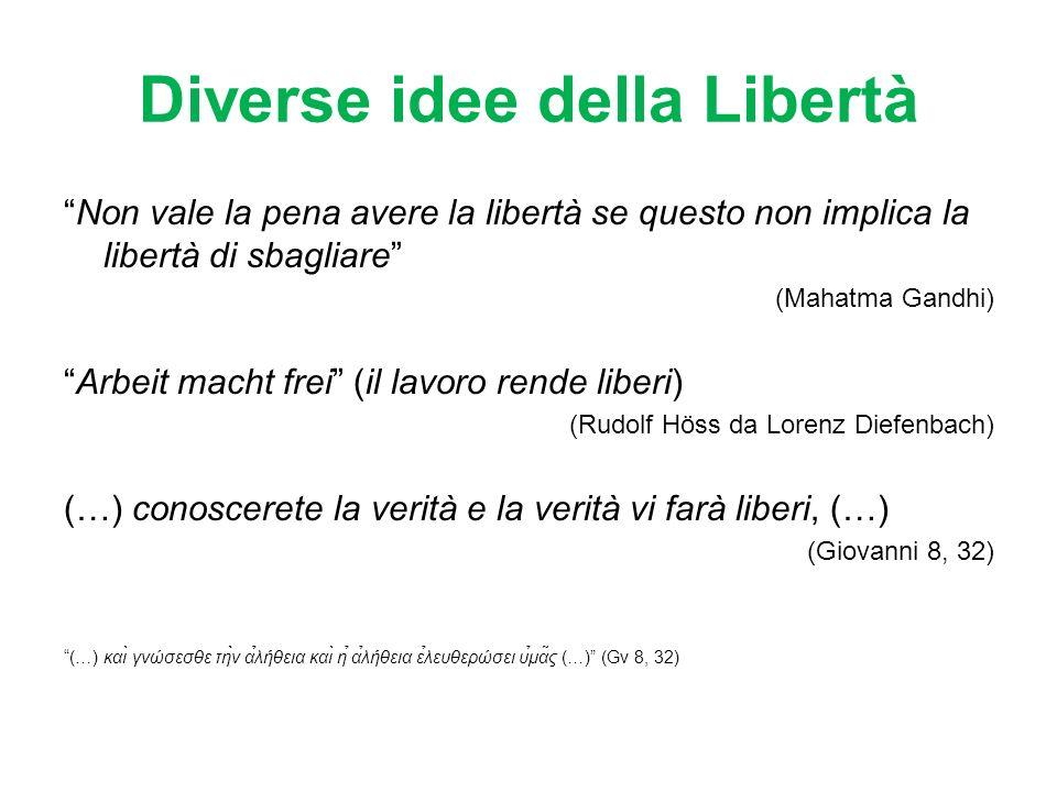 Diverse idee della Libertà