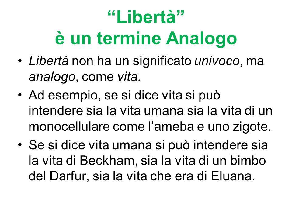 Libertà è un termine Analogo