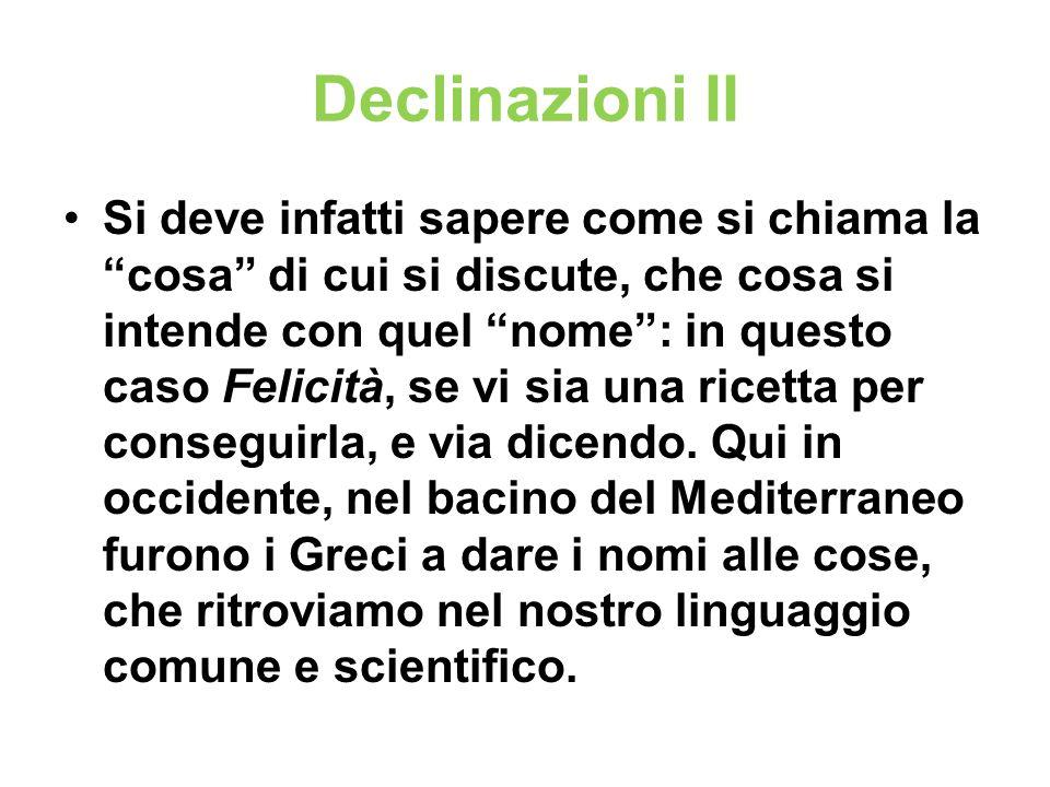Declinazioni II