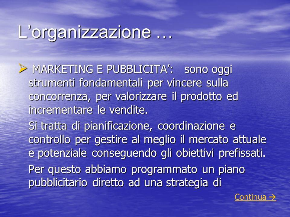 L'organizzazione …