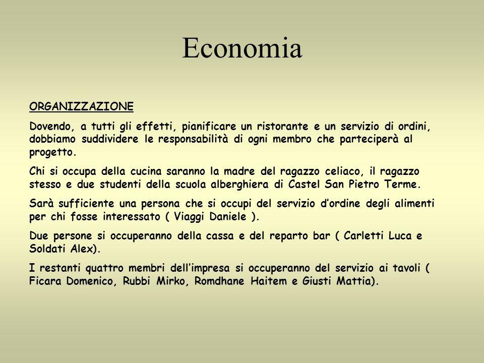 Economia ORGANIZZAZIONE