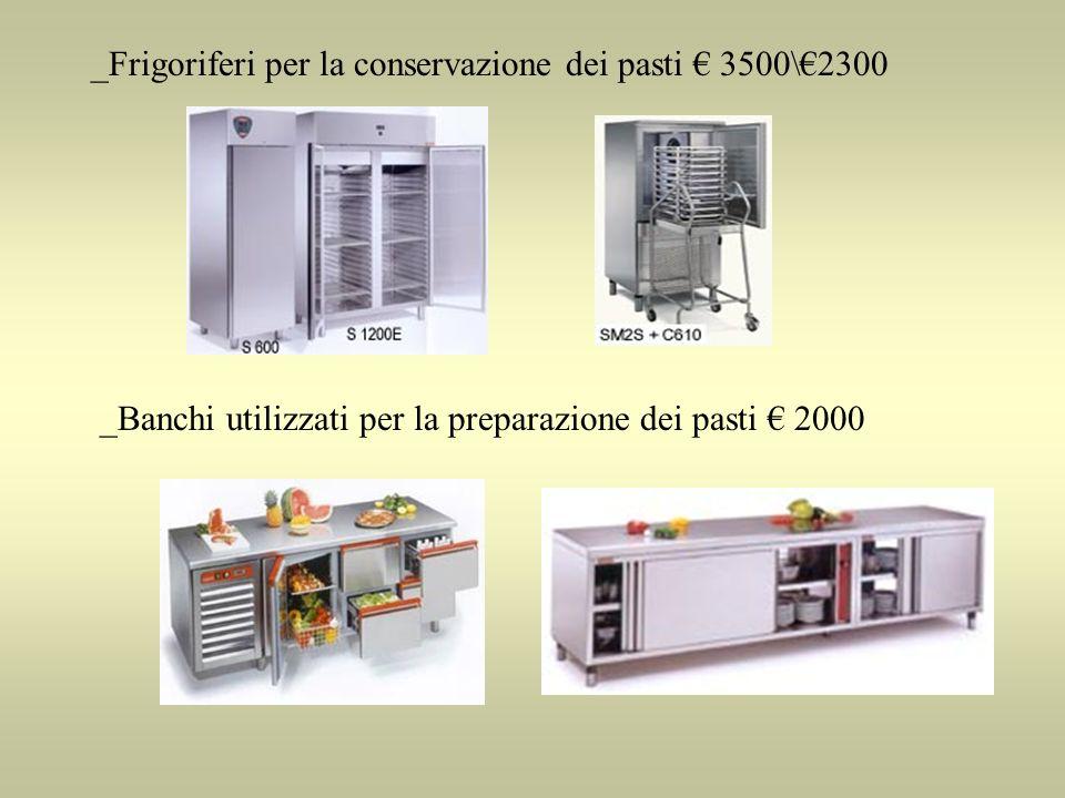 _Frigoriferi per la conservazione dei pasti € 3500\€2300