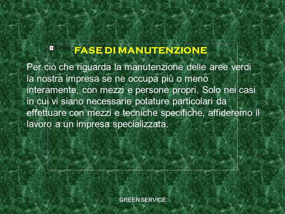 FASE DI MANUTENZIONE