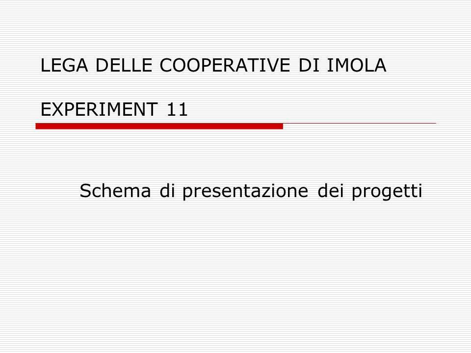 LEGA DELLE COOPERATIVE DI IMOLA EXPERIMENT 11