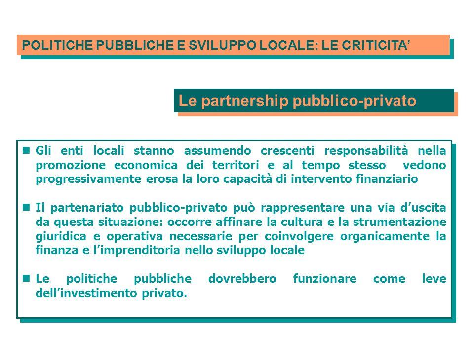 Le partnership pubblico-privato