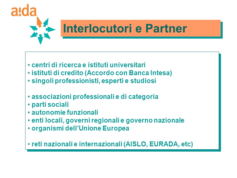 Interlocutori e Partner