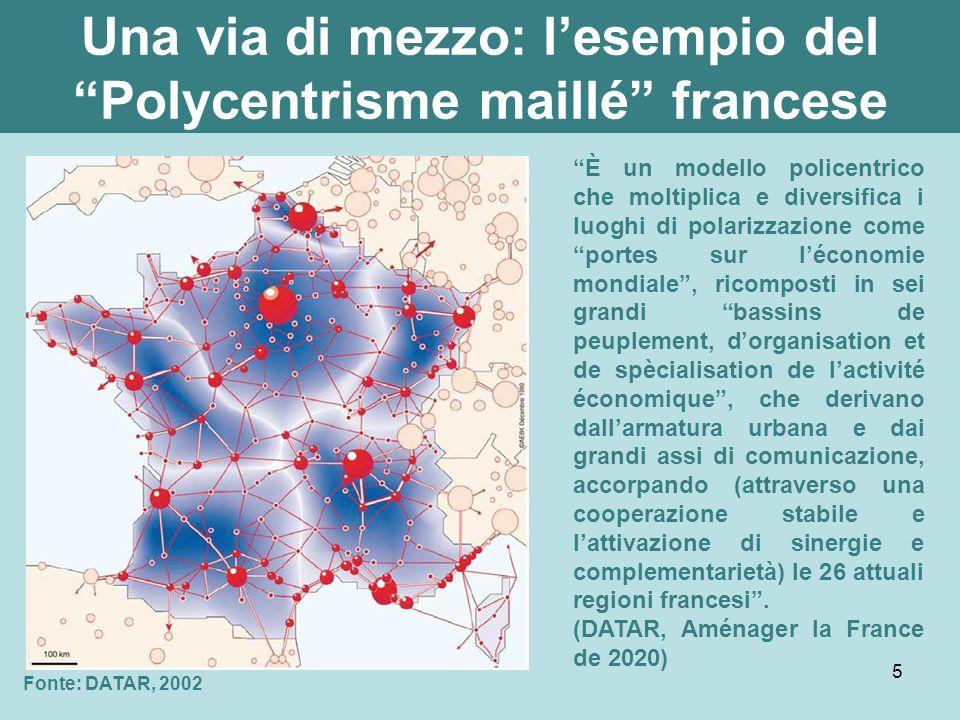 Una via di mezzo: l'esempio del Polycentrisme maillé francese
