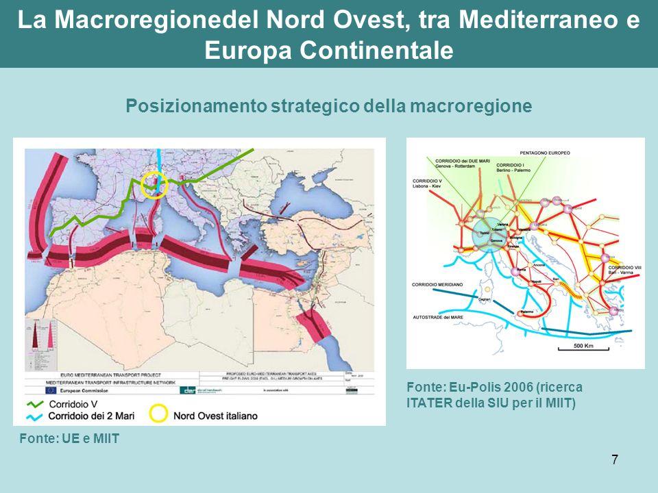 La Macroregionedel Nord Ovest, tra Mediterraneo e Europa Continentale