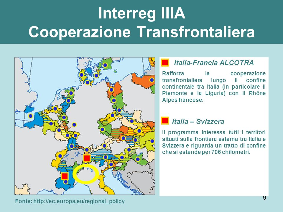 Interreg IIIA Cooperazione Transfrontaliera