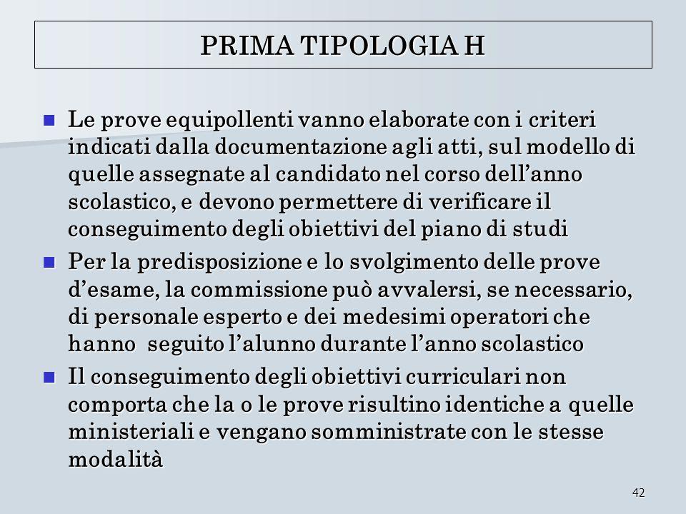 PRIMA TIPOLOGIA H