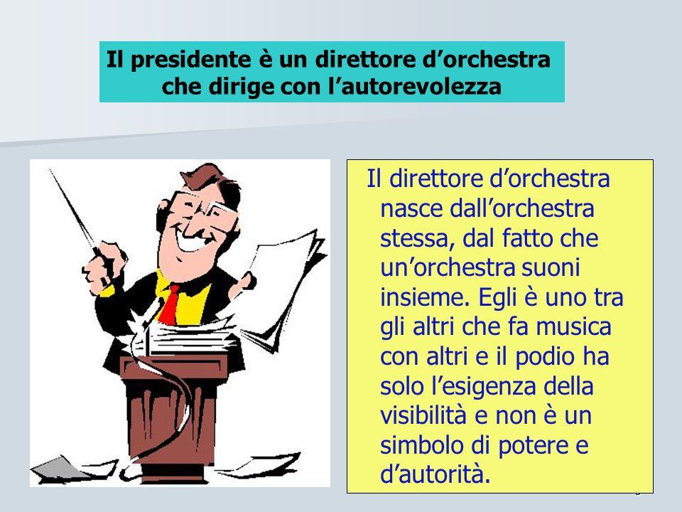 Il presidente è un direttore d'orchestra