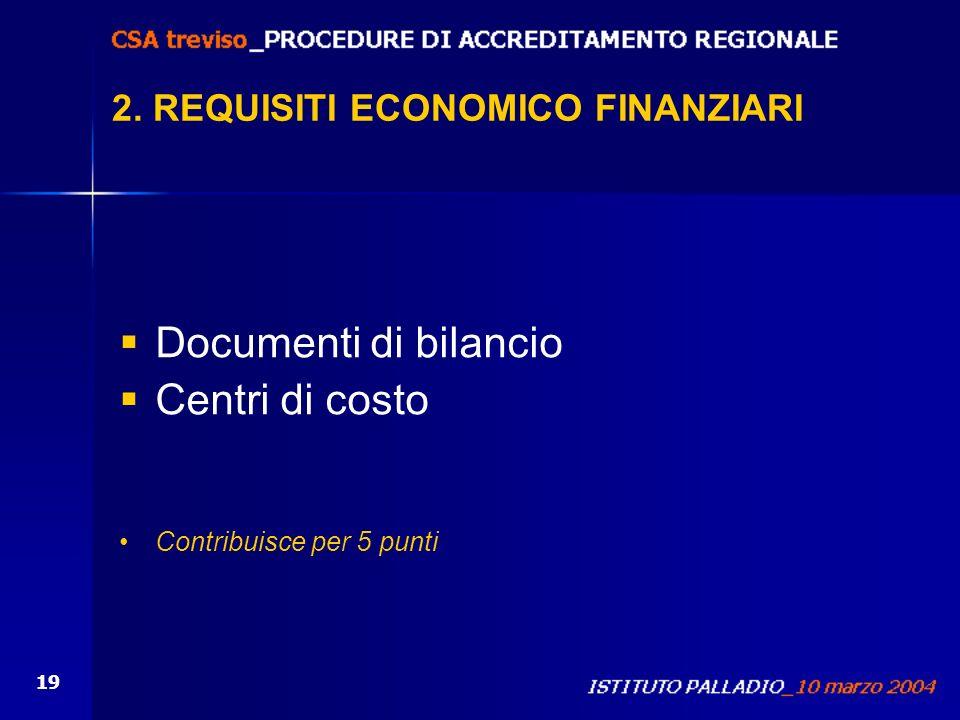 2. REQUISITI ECONOMICO FINANZIARI