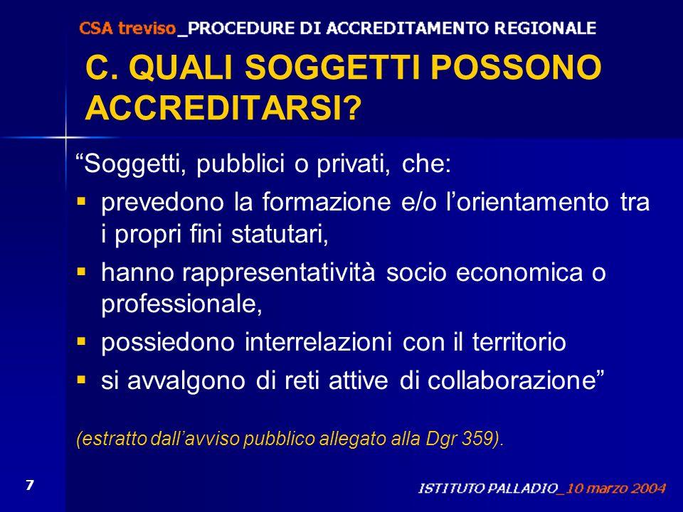 C. QUALI SOGGETTI POSSONO ACCREDITARSI