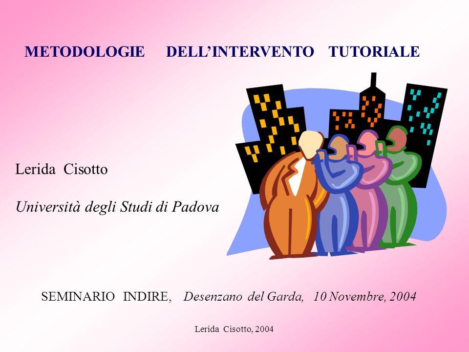 SEMINARIO INDIRE, Desenzano del Garda, 10 Novembre, 2004