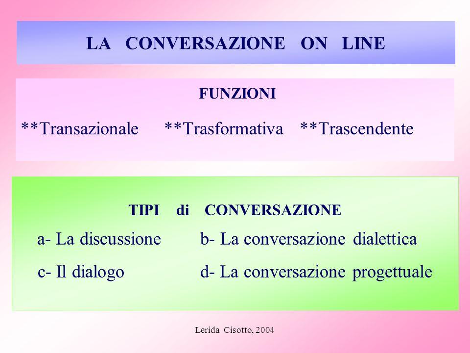 LA CONVERSAZIONE ON LINE