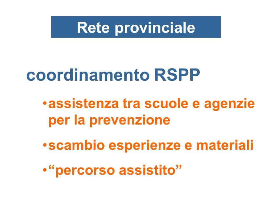 coordinamento RSPP Rete provinciale