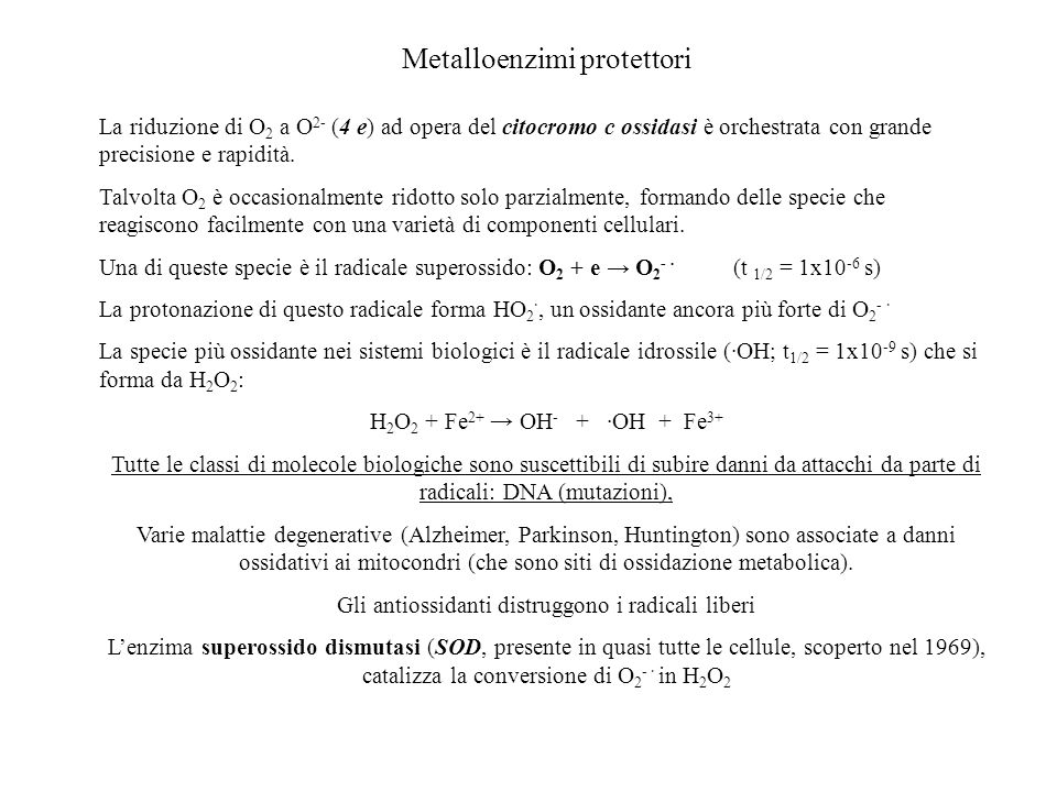 Metalloenzimi protettori