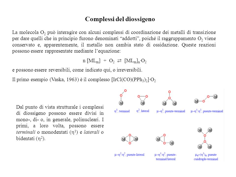 Complessi del diossigeno