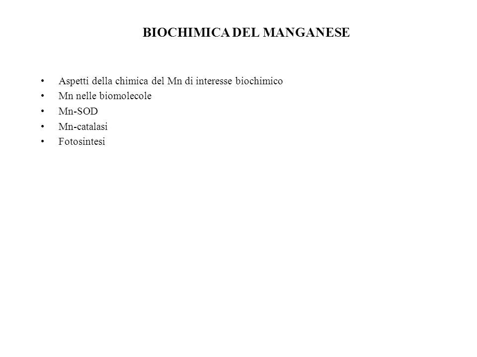 BIOCHIMICA DEL MANGANESE