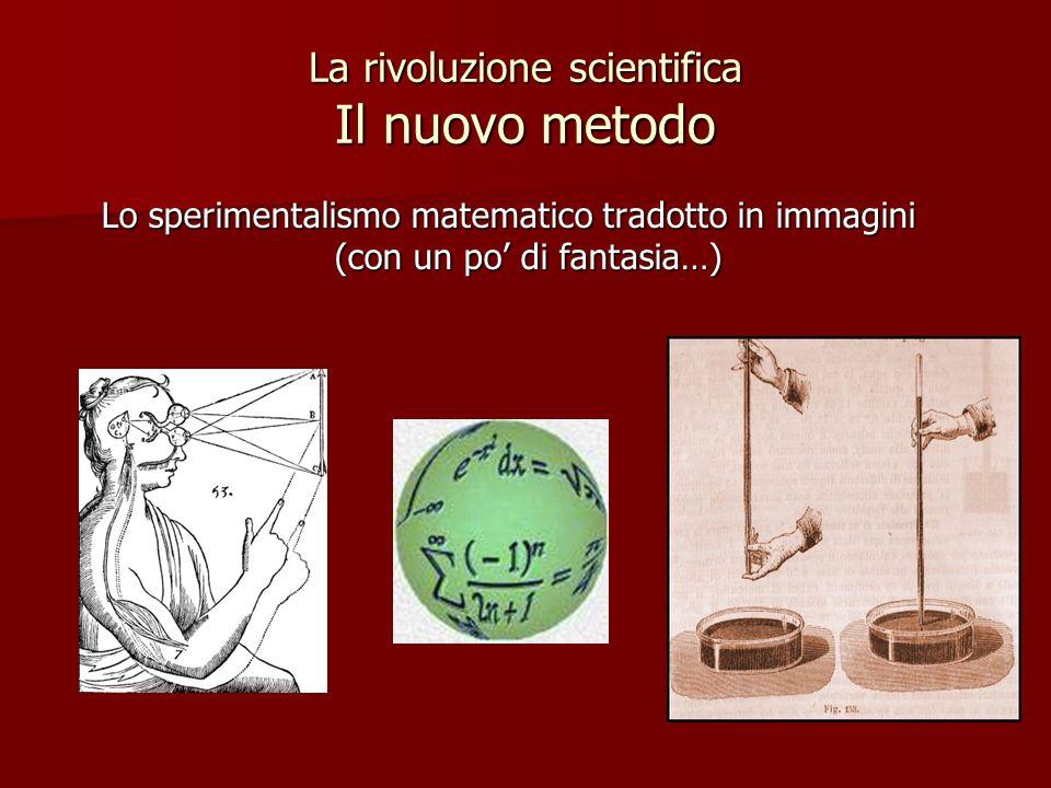 La rivoluzione scientifica Il nuovo metodo