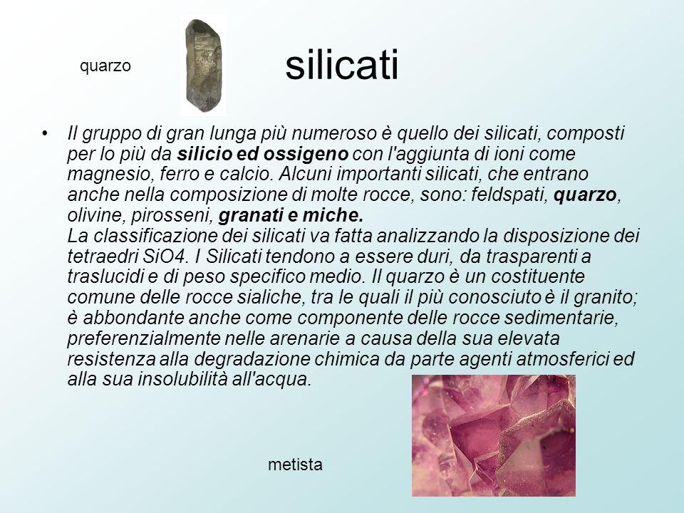 silicati quarzo.