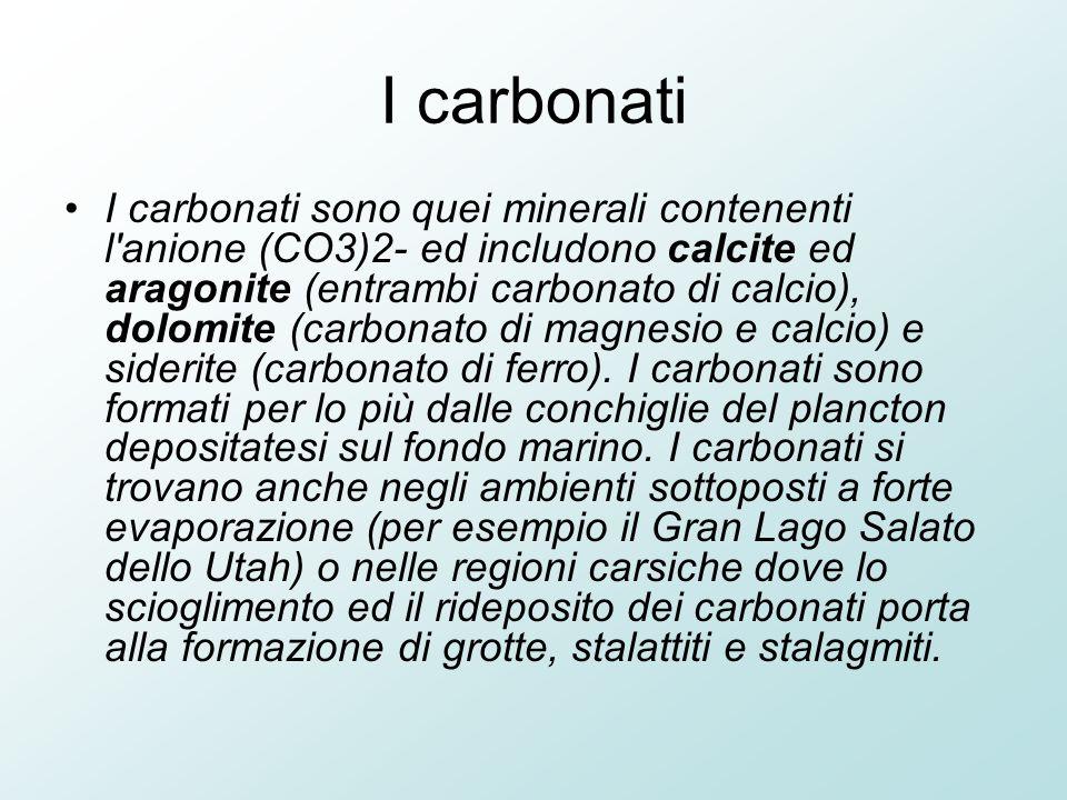 I carbonati
