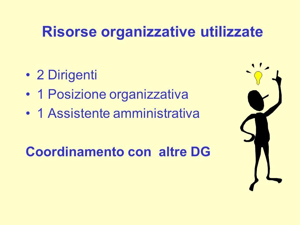 Risorse organizzative utilizzate