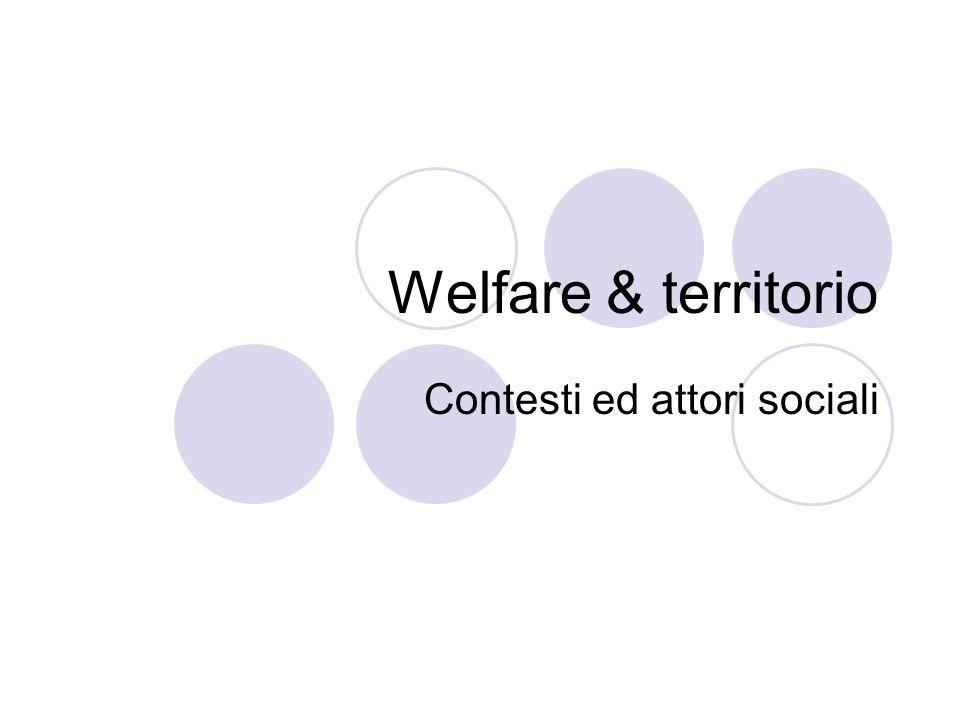 Contesti ed attori sociali