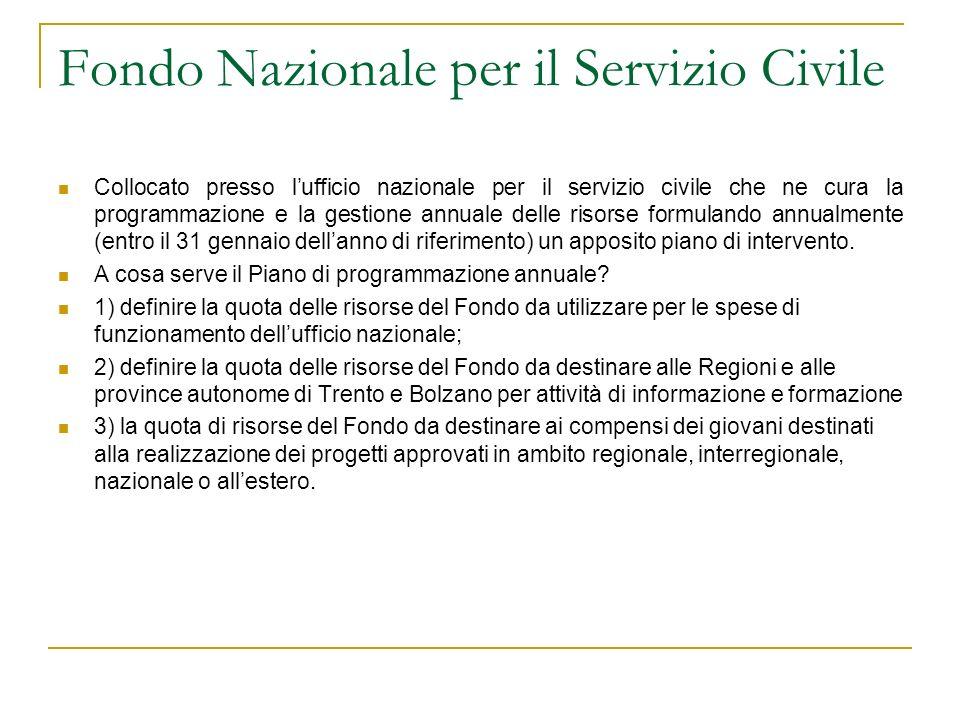 Fondo Nazionale per il Servizio Civile