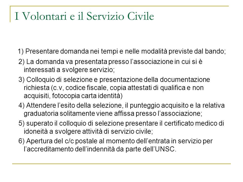I Volontari e il Servizio Civile