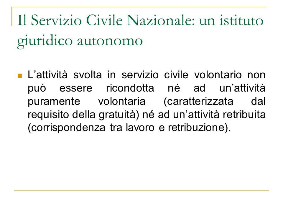 Il Servizio Civile Nazionale: un istituto giuridico autonomo