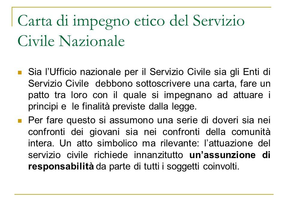 Carta di impegno etico del Servizio Civile Nazionale