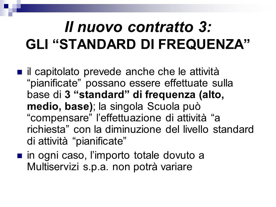 Il nuovo contratto 3: GLI STANDARD DI FREQUENZA