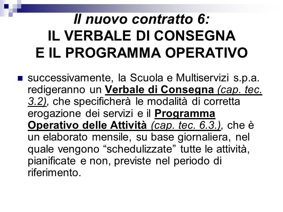 Il nuovo contratto 6: IL VERBALE DI CONSEGNA E IL PROGRAMMA OPERATIVO