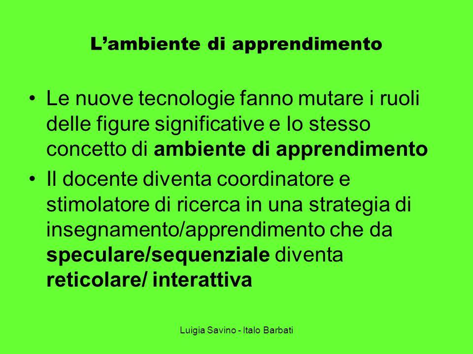 L'ambiente di apprendimento