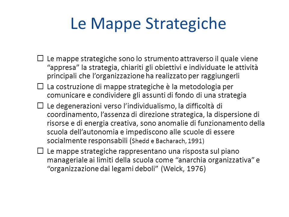 Le Mappe Strategiche
