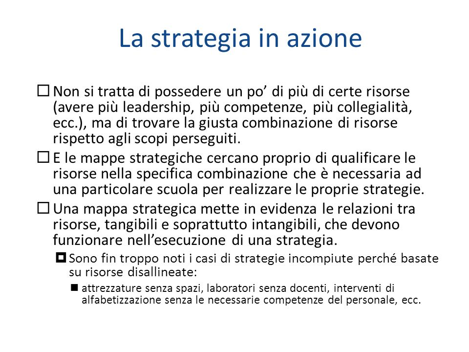 La strategia in azione