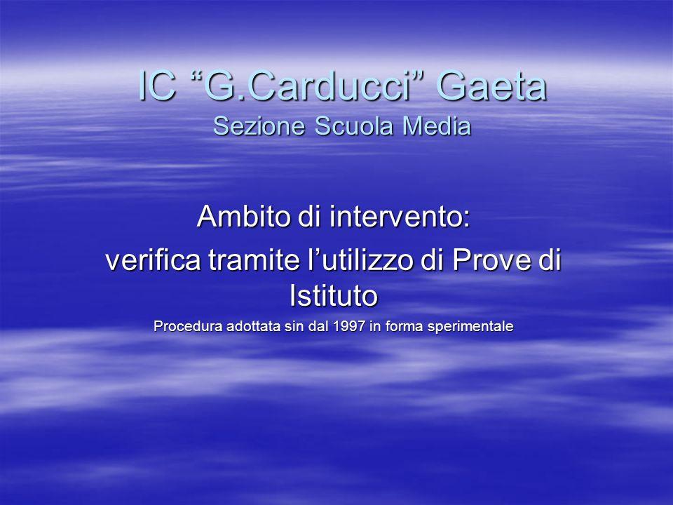 IC G.Carducci Gaeta Sezione Scuola Media