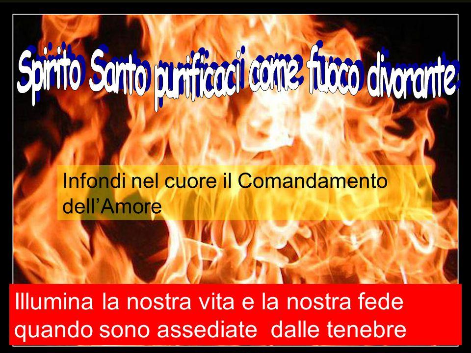 Spirito Santo purificaci come fuoco divorante