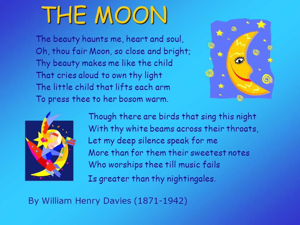 THE MOON By William Henry Davies (1871-1942)