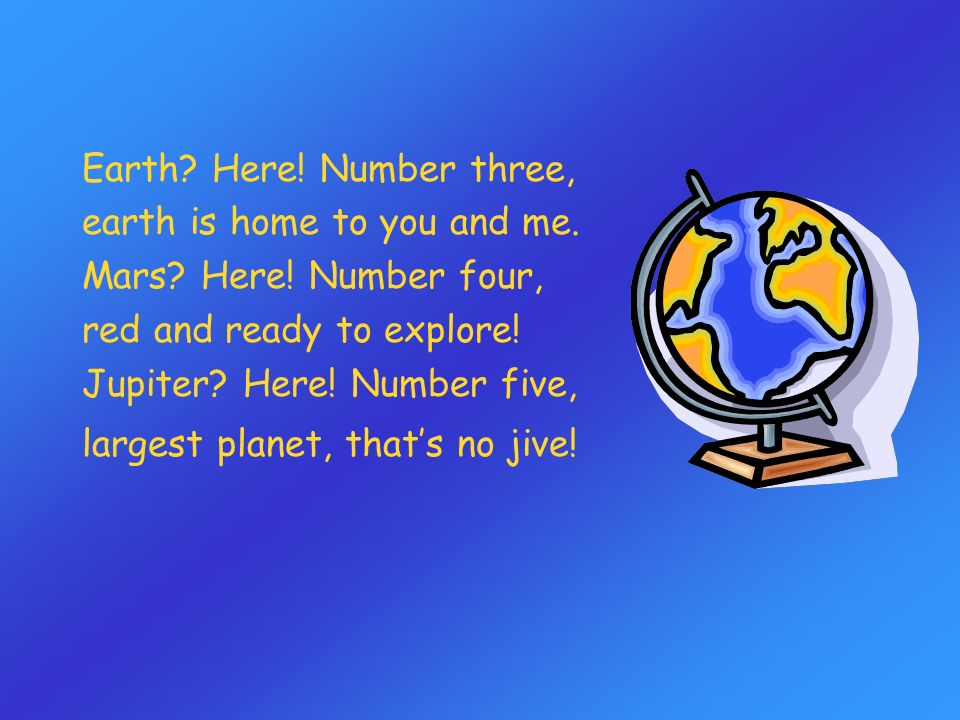Earth Here! Number three,