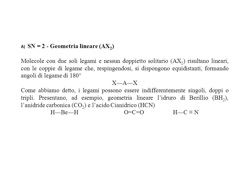A) SN = 2 - Geometria lineare (AX2)
