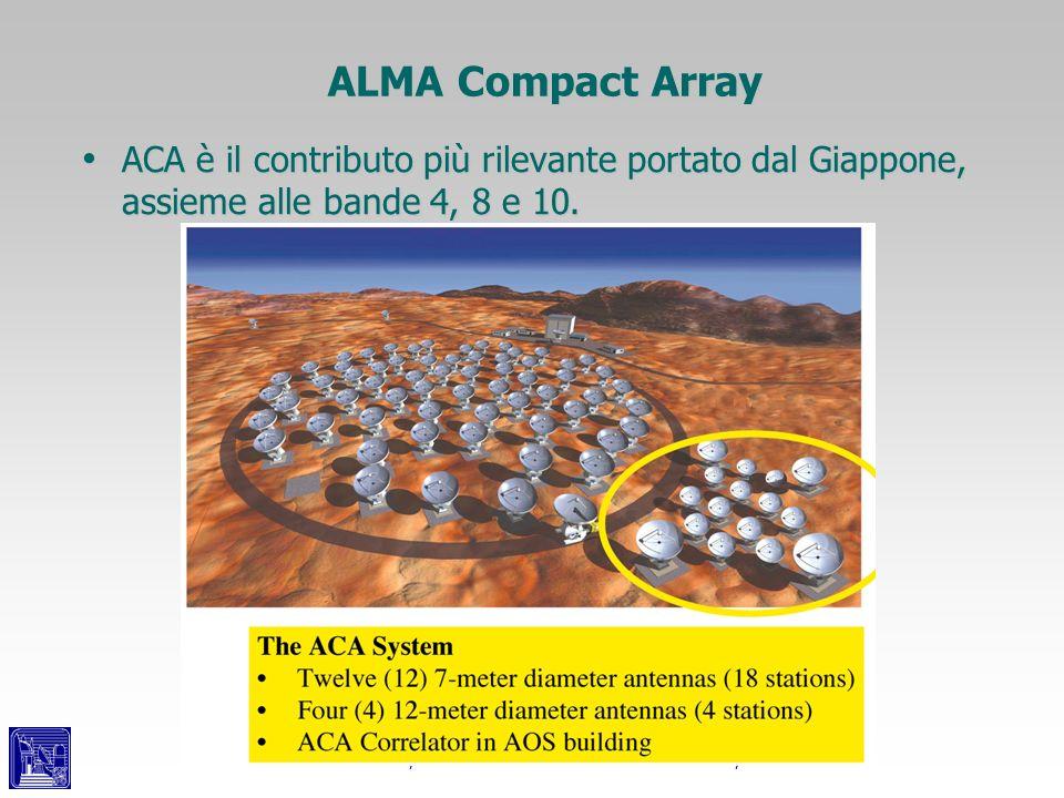 ALMA Compact ArrayACA è il contributo più rilevante portato dal Giappone, assieme alle bande 4, 8 e 10.