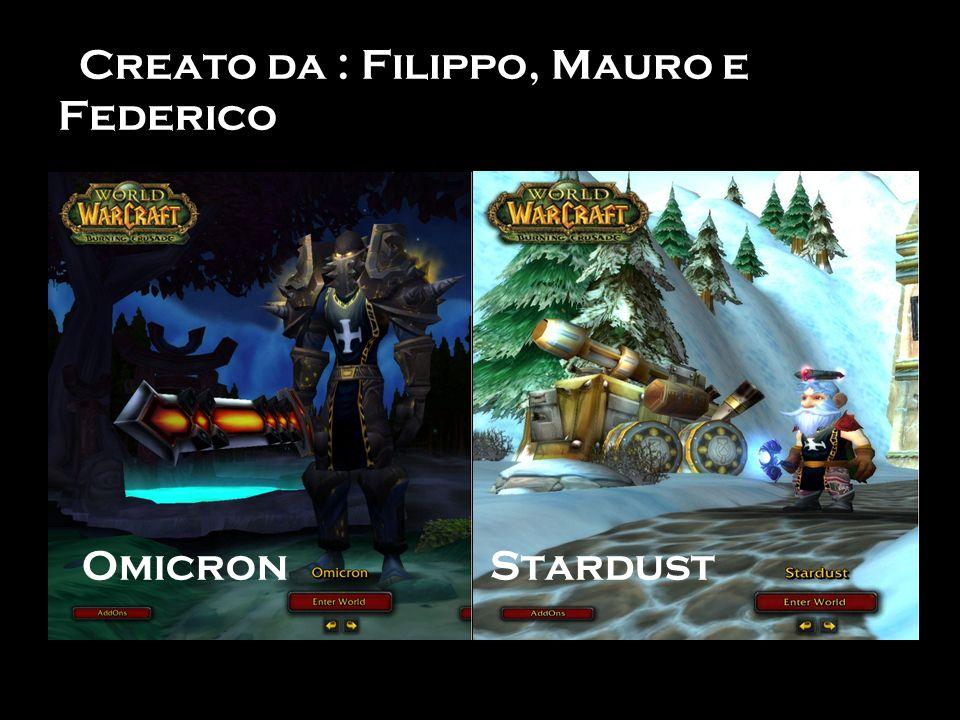 Creato da : Filippo, Mauro e Federico