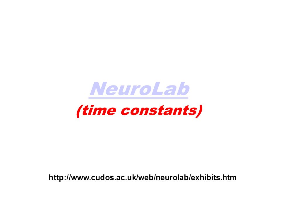 NeuroLab Simulazioni con (time constants)