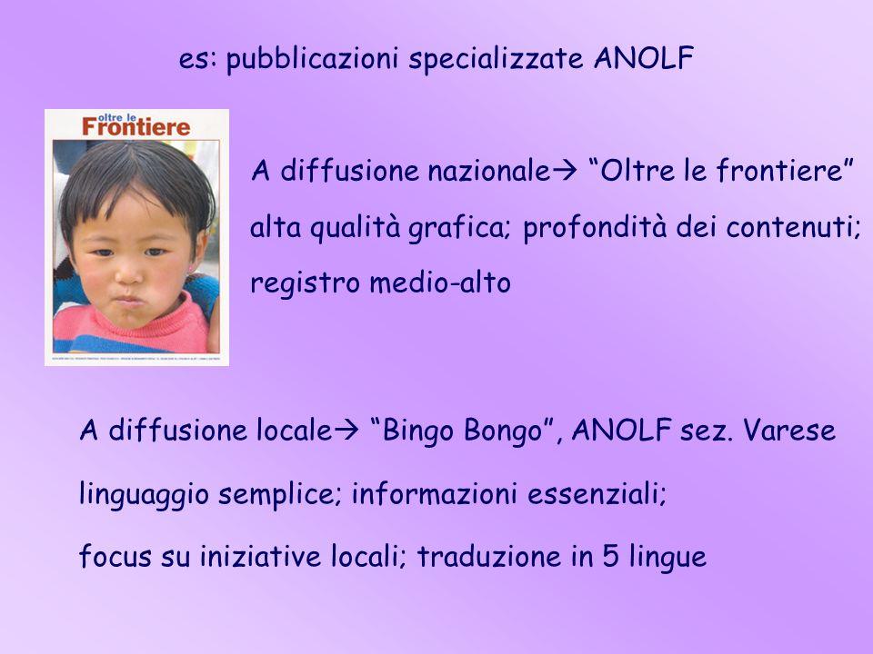 es: pubblicazioni specializzate ANOLF