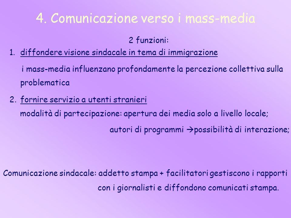 4. Comunicazione verso i mass-media