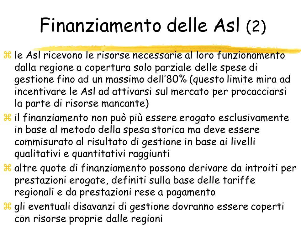 Finanziamento delle Asl (2)